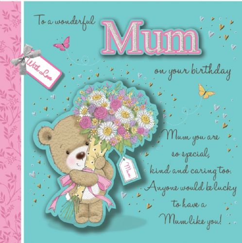 To A Wonderful Mum On Your Birthday X6